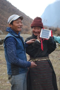 Distributing LED solar lights in Nepal
