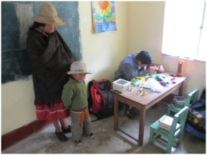 Repairing solar lights supplied by LED, Peru