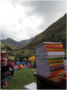 School books provided by LED, Peru