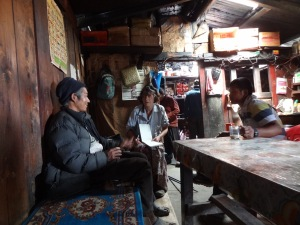 LED solar light distribution, Bhulbule – LED Solu Khumbu Trek, April/May 2016