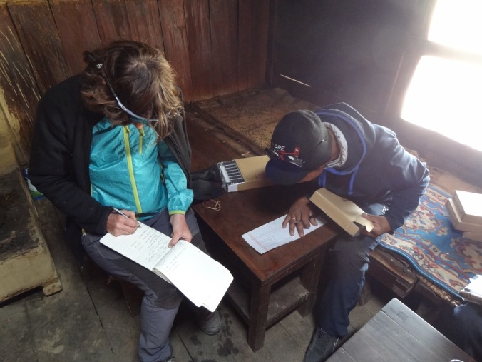 LED solar light distribution, PK Dairy – LED Solu Khumbu Trek, April/May 2016