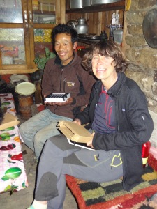 LED solar light distribution, Jase Bhanjyang – LED Solu Khumbu Trek, April/May 2016