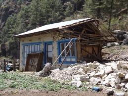 Earthquake damage, near Bengkar - LED Solu Khumbu Trek, April/May 2016