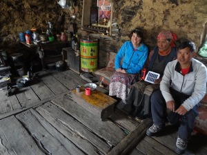 LED solar light distribution, checks and repairs, Thame valley - LED Solu Khumbu Trek, April/May 2016