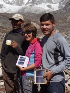 LED solar light distribution, Bhote Kosi valley - LED Solu Khumbu Trek, April/May 2016