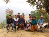 Sundalpulchok schools visit with NYF - April 2016 - Val with locals at meeting with Lalit