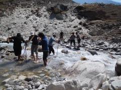 Solukhumbu Trek April/May 2016 - Crossing the river