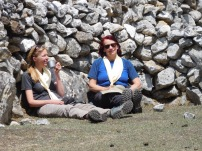 Solukhumbu Trek April/May 2016 - Mary and Steffi taking a breather